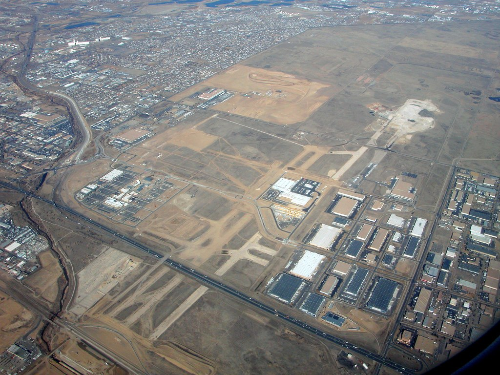 Aerial view of Stapleton Airport - Ghost Airports