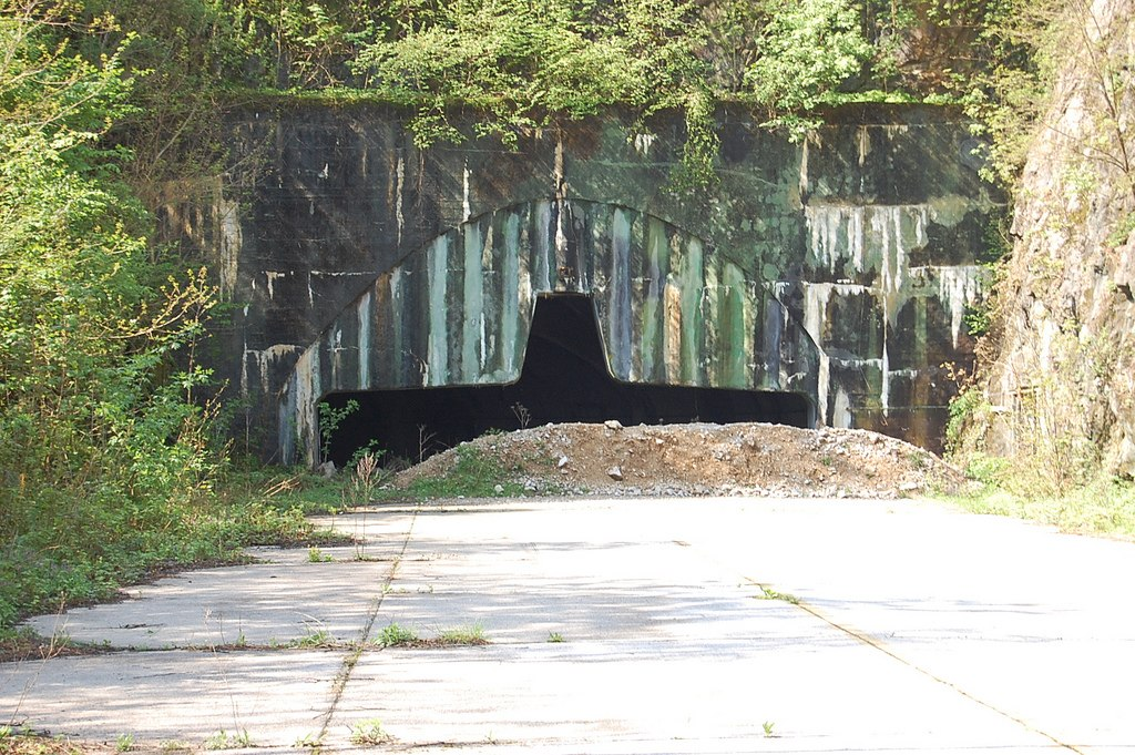 Željava Airbase tunnel entrance - Ghost Airports