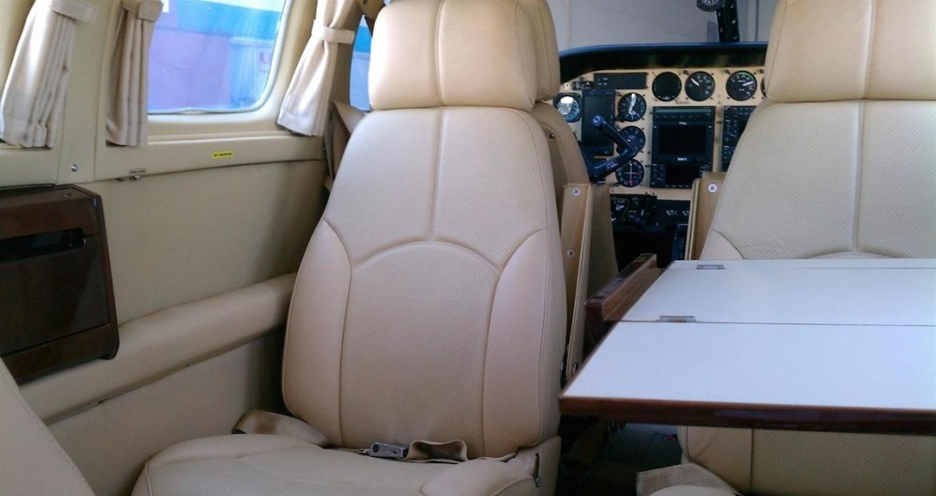 Interior of a Cessna Crusader - How to Detail an Airplane