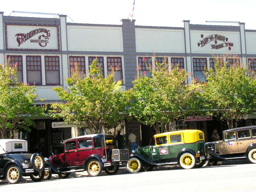 The Fredericksburg Brewing Company in downtown Fredericksburg TX.