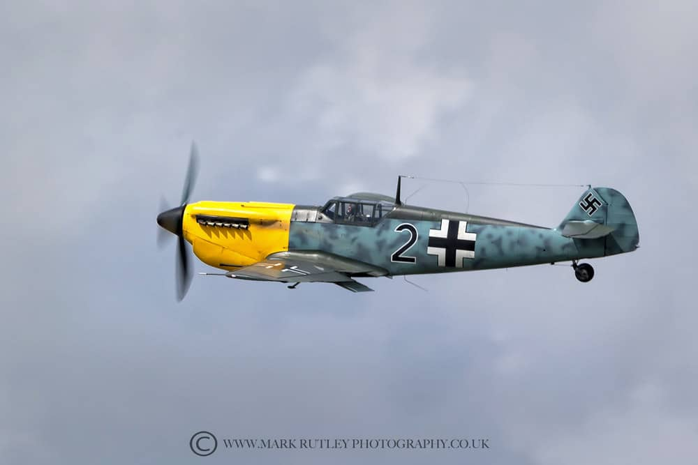 Hispano Buchon redressed as the Me 109 for the movie Dunkirk.