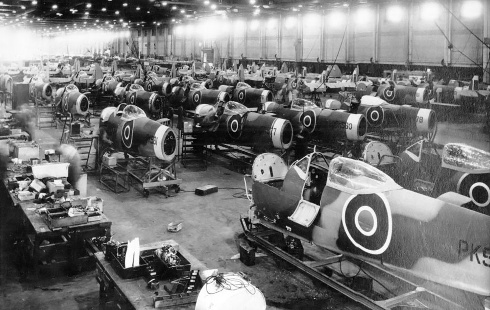 Castle Bromwich Supermarine Spitfire Factory during World War 2