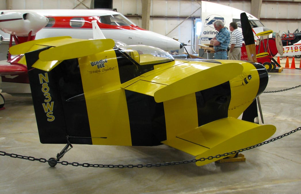 The Bumble Bee 1 airplane, on display in the Pima Museum - Flight of the Bumble Bee Airplane