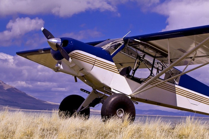 The Super Cub at a backcountry airstrip.