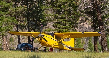 Flying to the Upper Loon Creek Airstrip