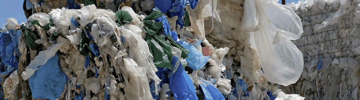 End of life plastic, like the material pictured, may be able to be recycled into plastic fuel.