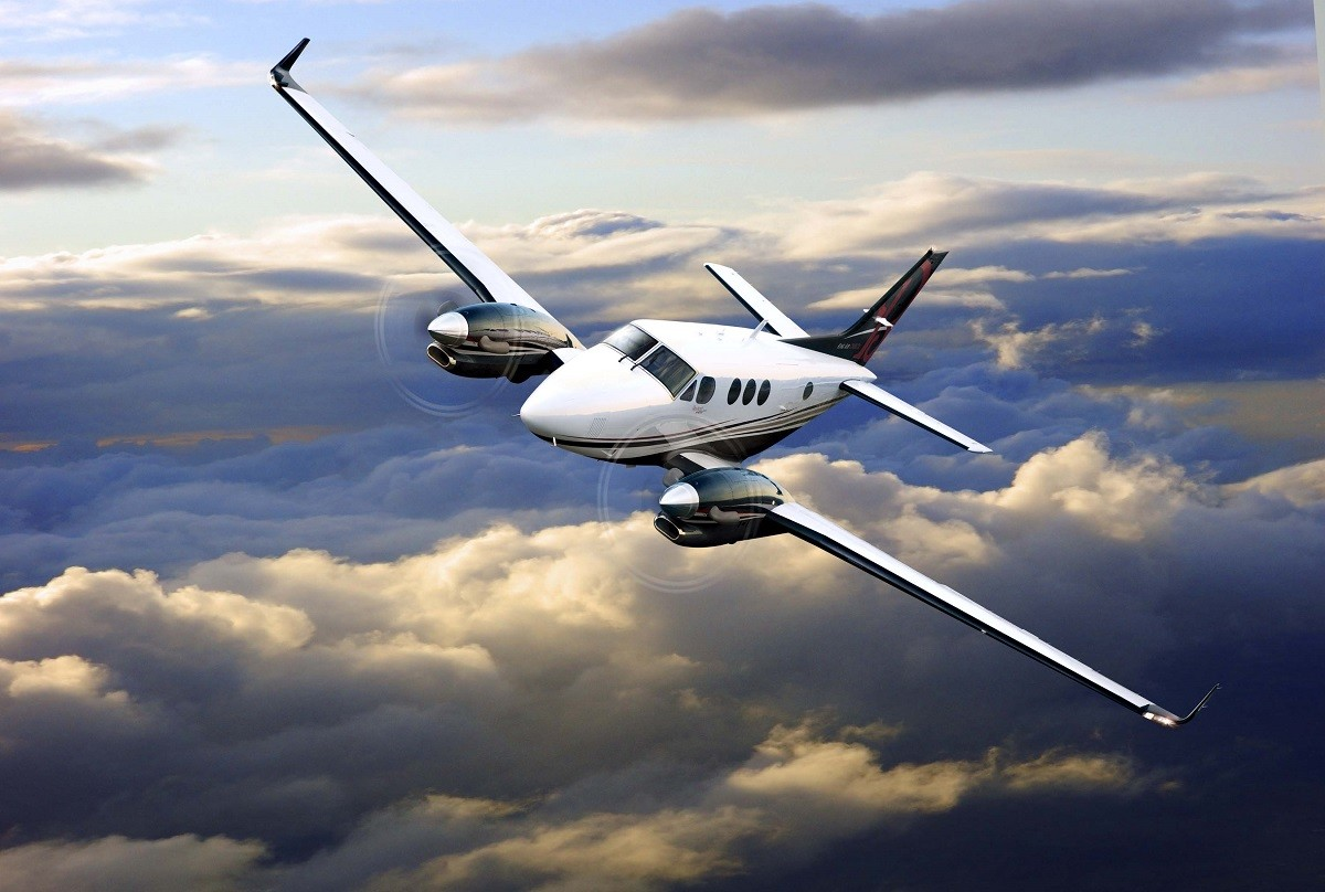 The King Air C90GTx, one of the premiere Hawker Beechcraft planes.