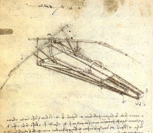Ornithopter design by Leonardo da Vinci