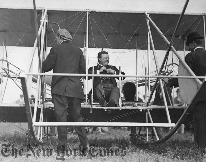 President Theodore Roosevelt becomes the first President to fly, in America.