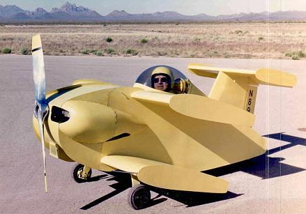Robert H Starr and the Bumblebee 2 prepares for flight - Flight of the Bumble Bee Airplane