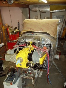 Cessna 180 Skywagon engine being restored - Tailwheel