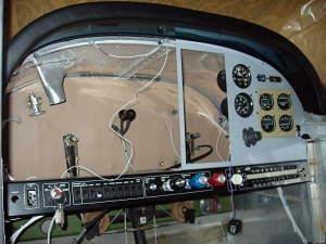 Cessna 180 Skywagon Instrument Panel under restoriation - Tailwheel