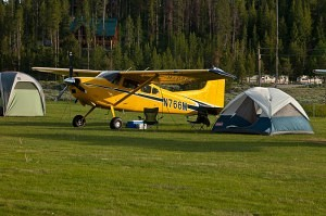 Upper Loon Creek airplane camping with Cessna 185 Skywaagon - Tailwheel Part 2
