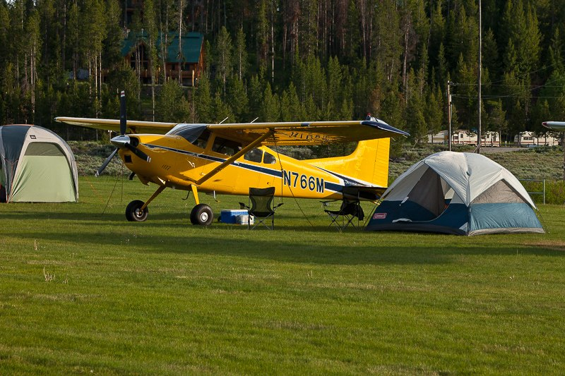 Cessna 185 Skywagon camping at Upper Loon Creek - Tailwheel Part 2