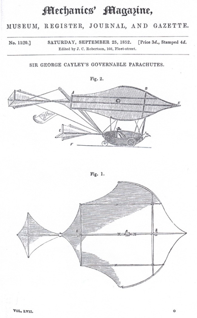 George Cayley's governable parachute design