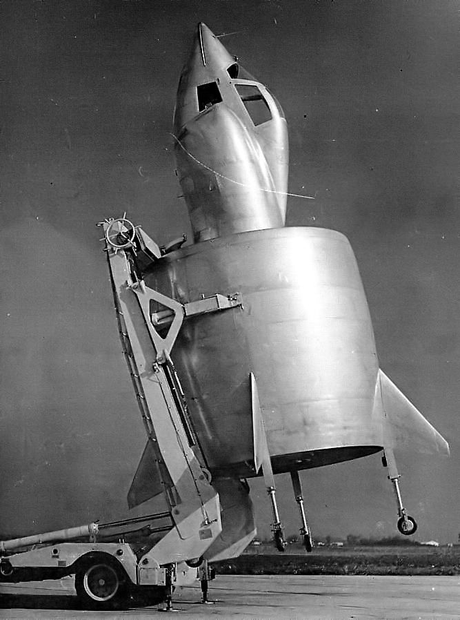 The SNECMA Coleoptere, preparing for launch - Tail Sitter Aircraft: Say What?
