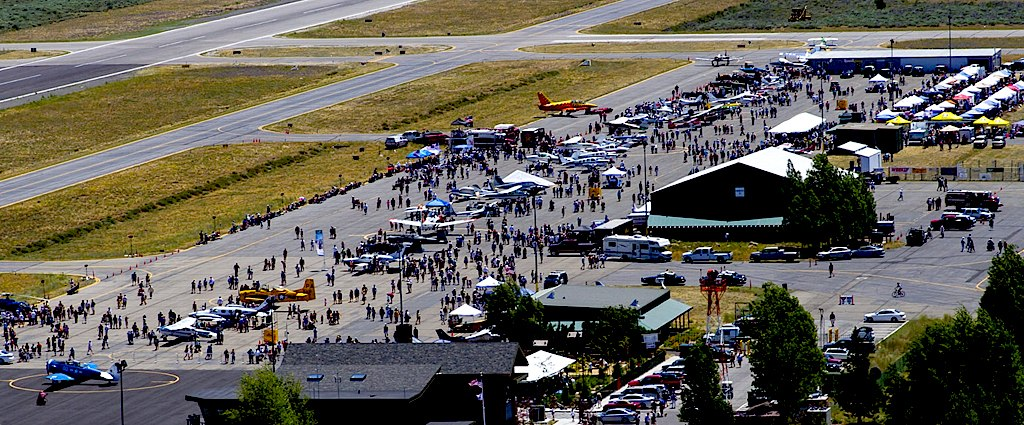 Truckee Tahoe airport during the festival