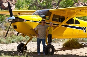 Disciples of Flight founder Jim Hoddenbach and grandson at Mexican Mountain airstrip - Tailwheel Part 2