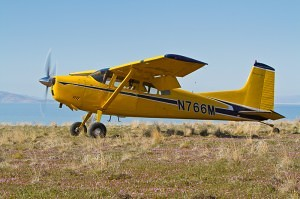 Cessna 185 Skywagon at a backcountry airstrip - Tailwheel Part 2