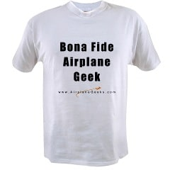 An aviation geeks shirt