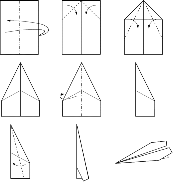 Traditional Paper Airplane - History of the Paper Airplane