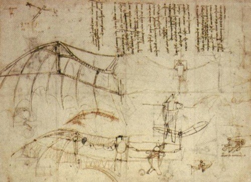Da Vinci's ornithopter - First Flight: the Early Aviators