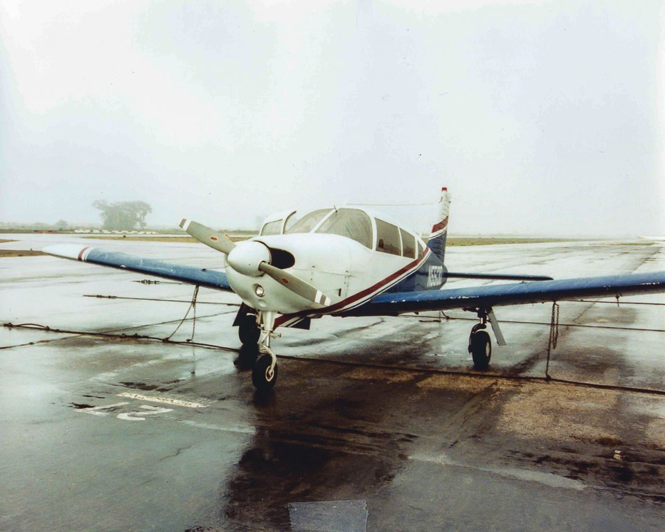 A Piper Arrow in transient parking - Instrument Flying