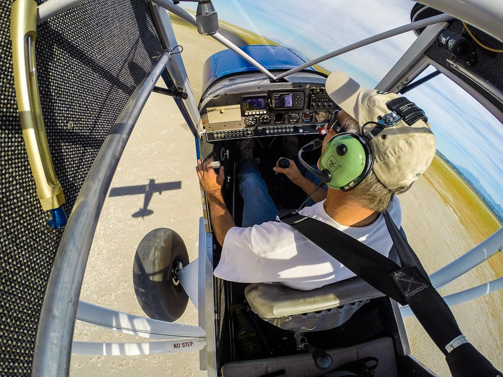 Inside the cockpit of the cub
