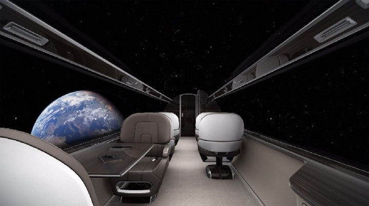 Ixion Jet windowless plane view Space - Window Seats for Everyone!