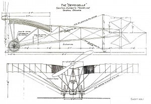 The plans for Alberto Santos-Dumont's Demoiselle - History of the Experimental Certificate