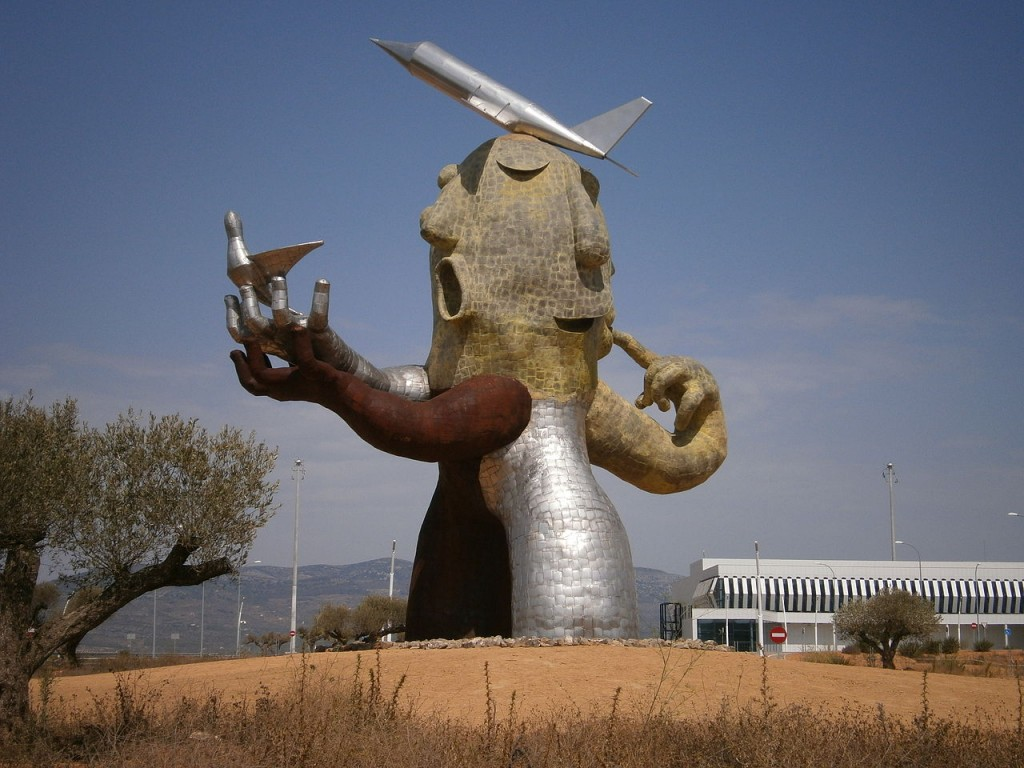 Sculpture outside Castellón–Costa Azahar airport - Ghost Airports
