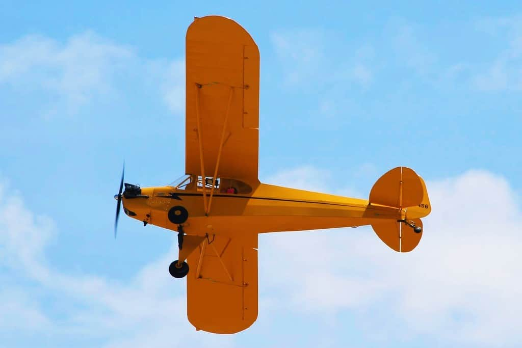 Piper J-3 Cub from below - The World's Most Iconic Airplane