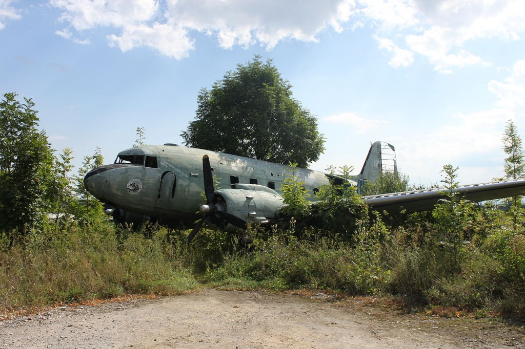 Željava Airbase, derelict aircraft - Ghost Airports