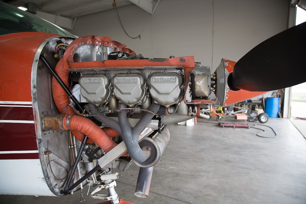 Engine on a Cessna 182 Skylane - Aircraft Engine Overhaul