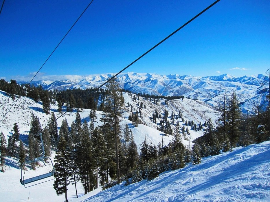 The ski lifts at Sun Valley - Fly to the Perfect Recreation Destination