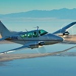 Twin engine aircraft flying above Salt Lake valley - Flying in Hot Weather: Density Altitude