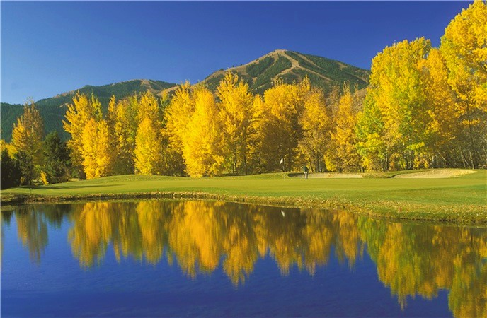 Golf-Trail Creek Hole 9 Fall Sun Valley Resort - Fly to the Perfect Recreation Destination
