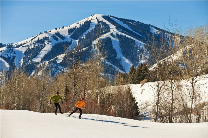 NordicTrails Baldy in back courtesy Sun Valley Resort - Fly to the Perfect Recreation Destination