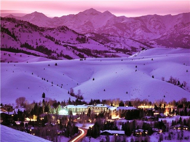 Sun Valley evening glow - Fly to the Perfect Recreation Destination