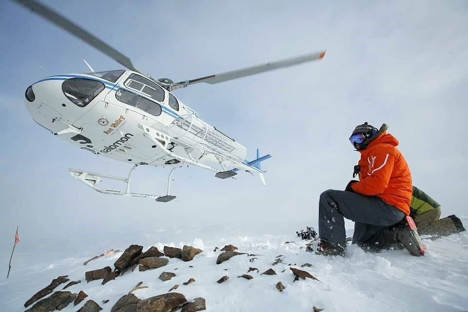 Waiting on the heli photo by Sun Valley HeliSki - Fly to the Perfect Recreation Destination