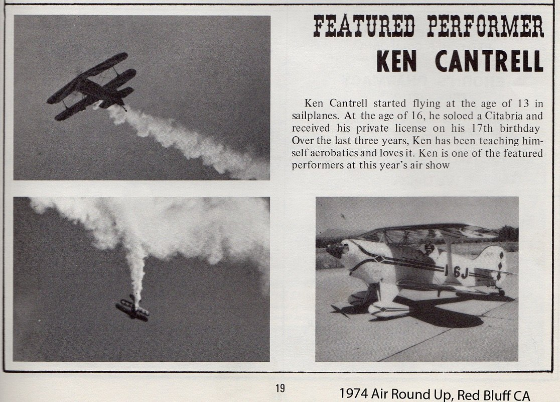 Ken Cantrell flying in airshows - Airplane Building Experience