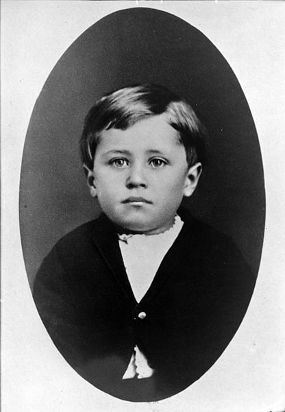 A young Orville Wright in 1876, age 5 - First Flight: the Wright Brothers