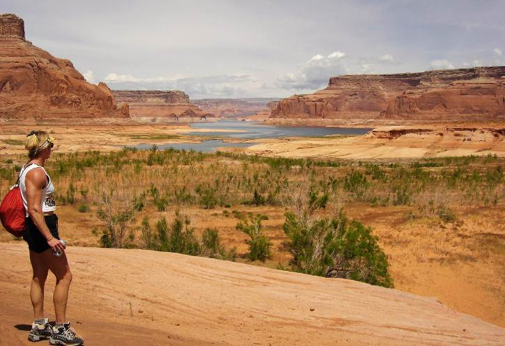 Looking at Lake Powell from Dungeon Canyon - Page Airport: Gateway to Redrock Adventures