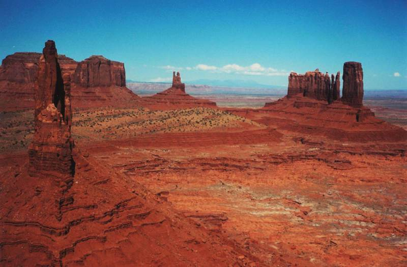 Monument Valley from the air - Page Airport : Gateway to Redrock Adventure