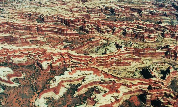The Maze in Bryce Canyon from the Air - Page Airport: Gateway to Redrock Adventures