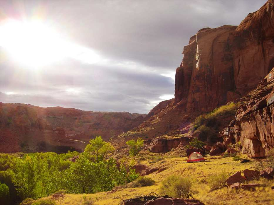 Camping in Moki Canyon - Page Airport: Gateway to Redrock Adventures