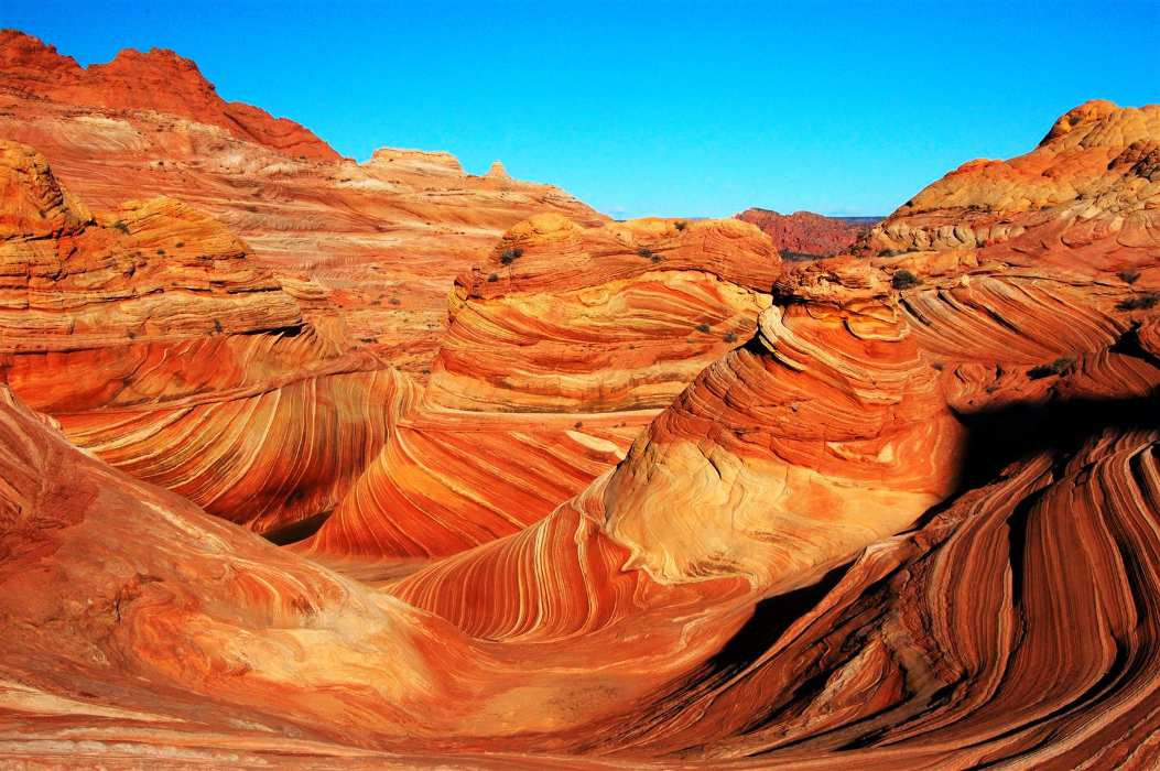 The Wave redrock formation - Page Airport: Gateway to Redrock Adventures