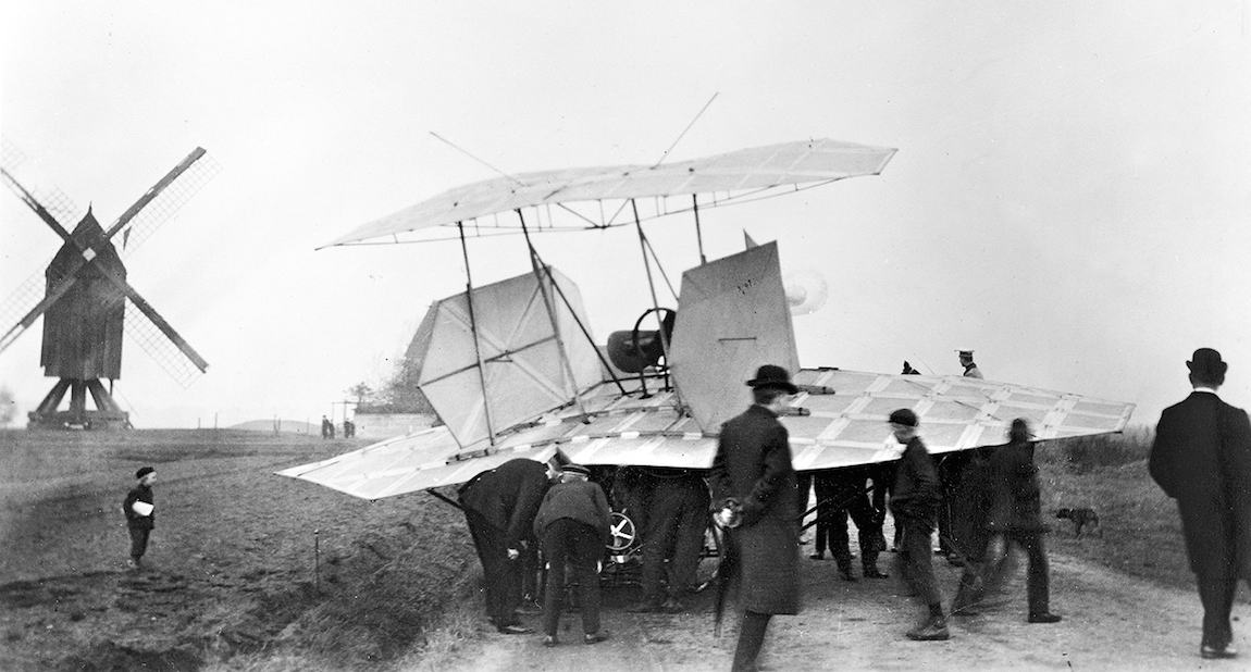 Karl Jatho's biplane - First Flight: Gustave Whithead
