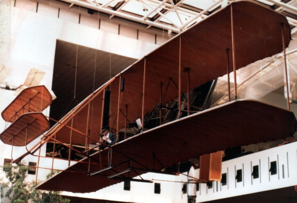 The Wright Flyer 1 on display at the Smithsonian - First Flight: Gustave Whitehead