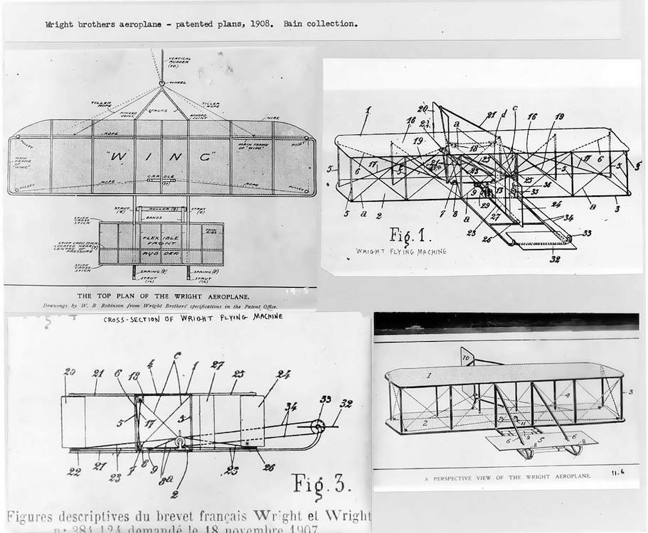 Patent for the Wright Brothers biplane - First Flight: Gustave Whitehead